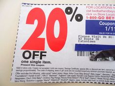 Bed Bath Beyond 20% Off Coupon One Single Item Shopping Promo Code In Store Use!