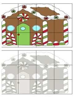 Christmas Crafts For Kids, Christmas Themes, Winter Christmas, All Things Christmas, Preschool Puzzles, Preschool Learning, Preschool Crafts, Hansel Y Gretel Cuento, Christmas Activities