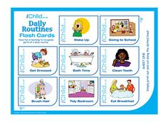 These colourful daily routine flash cards are a great handy resource, and are perfect for you and your child to play with together. Please ensure ALL cutting out is performed with an adult!