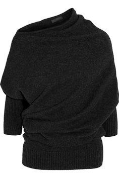 Donna Karan New York|Draped cashmere sweater|NET-A-PORTER.COM