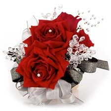 Red Rose Corsage for Prom
