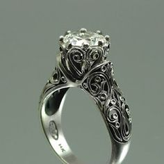 Vintage style wedding ring by Sergey Zhiboedov