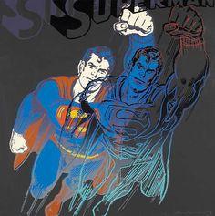 Andy Warhol Myths: Superman, 1981 Screenprint 38 x 38