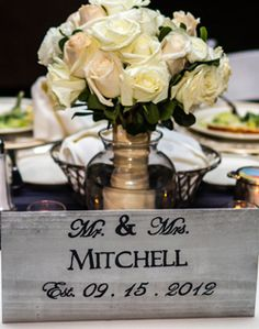 Sweetheart table decorations