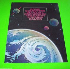 GYRUSS By CENTURI KONAMI 1983 ORIGINAL NOS VIDEO ARCADE GAME PROMO SALES FLYER #Gyruss #ArcadeGameFlyers