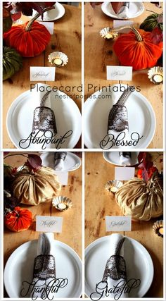Classic & Elegant Placecards for your Thanksgiving Table - Nest of Posies