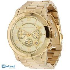 MK8077 Michael Kors Gold Watch Unisex Bracciale in Acciaio Cronografo Nuovo - Orologi e Gioielli | Merkandi.it