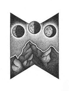 Moon Print, Stippling, I Am Happy, Really Cool Stuff, Craft Supplies, Balloons, Beautiful Pictures, Mandala, Drawings