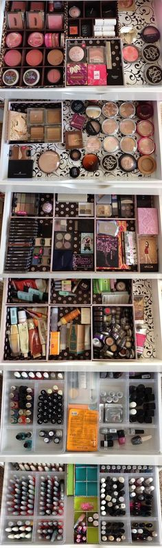 Nail polish storage, makeup storage