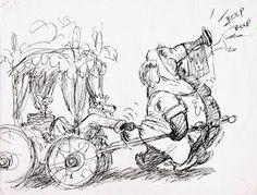 Concept art for Robin Hood Illustration Art Drawing, Illustrations, Animation Sketches, Art Sketches, Ken Anderson, Disney Artists, Disney Concept Art, Disney Sketches, Character Design Animation