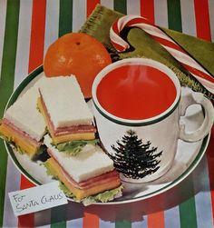 1960s Food, Retro Vintage, Vintage Food, Retro Ads, Retro Table, Finger Sandwiches, Food Advertising, Retro Kitchen Decor, Retro Christmas