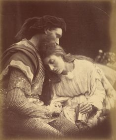 """""""The Parting of Sir Lancelot and Queen Guinevere,"""" Julia Margaret Cameron. 1874. Albumen silver print. 
