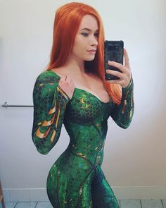 Get Ready For The Latest DC Blockbuster Aquaman With Some Hot Mera Cosplay Ideas Dc Cosplay, Cosplay Outfits, Best Cosplay, Cosplay Girls, Aquaman Cosplay, Female Cosplay, Cosplay Events, Latex Cosplay, Mera Dc Comics