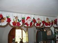 Manualidades decorativas: Aprende a como elaborar Cortinas Navideñas simplemente a mano Christmas Crafts, Christmas Decorations, Xmas, Holiday Decor, Sewing Hacks, Valance Curtains, Decoupage, Home Decor, Google