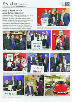 Essex Life have published an article on the Pride of Essex Awards 2014.  To learn more about these fantastic awards and to read the remarkable stories visit the Pride of Essex Awards Website.  www.prideofessex.org.uk