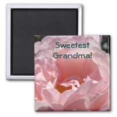 Sweetest Grandma! magnet gifts Pink Rose Flower SOLD Personalized custom Pastel Roses magnet gifts