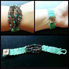 Craft Sparkle Pop: Yarn Crafts: Smoky Quartz Bracelet #PickYourPlum #CoconutButton