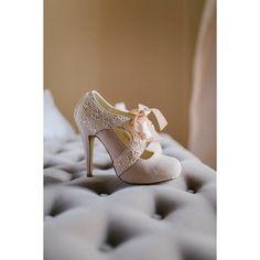 Vintage style wedding shoes via Polyvore