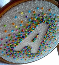negative space embroidery--french knots                                                                                                                                                      More