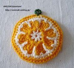 オレンジのエコたわし♪の作り方|編み物|編み物・手芸・ソーイング|アトリエ|手芸レシピ16,000件!みんなで作る手芸やハンドメイド作品、雑貨の作り方ポータル Crochet Home, Love Crochet, Crochet Motif, Crochet Flowers, Crochet Patterns, Crochet Potholders, Quilling Techniques, Hand Knitting, Diy And Crafts