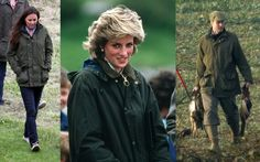 Kate was photographed wearing thisBarbourjacket in 2008 while out shooting with William and the Royals at Sandringham. The brand is famously favoured by the Royals. Below you will see William wearing a matching jacket to Kate's and Diana looking effortlessly chic in an anorak.