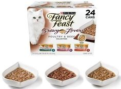 Fancy Feast Canned Cat Food Gourmet Chicken Turkey Beef Flavors 24 Pack 3 Oz New Healthy Cat Food, Gourmet Chicken, Canned Cat Food, Poultry, Pet Supplies, Turkey, Beef, Fancy, Breakfast