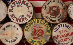 Drums at the Fife and Drum Museum, CT
