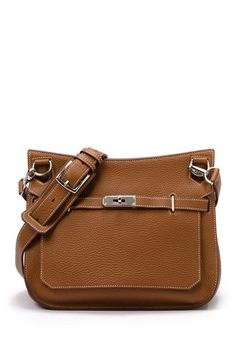 Hermes Leather Jypsiere 28 Crossbody  - Caramel 7995