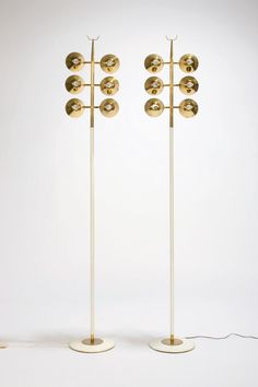 Gino Sarfatti, attributed - Arteluce - Pair of floor lamps