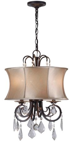 World Imports Annelise 3 Light Drum Chandelier