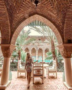 Micheli Fernandes at La Suntana Hotel, in Marrakech Morocco Visit Marrakech, Marrakech Travel, Marrakech Morocco, Morocco Travel, Visit Morocco, New Travel, Travel Goals, Riad, Wanderlust