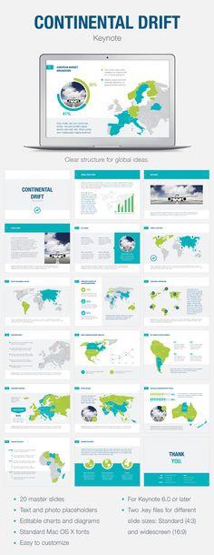 Continental Drift Keynote Template #design Download: http://graphicriver.net/item/continental-drift-keynote-template/12053807?ref=ksioks