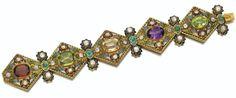 Gem set and diamond Austro-Hungarian bracelet, circa 1860  © Sotheby's