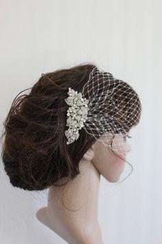 Bibi mariage, bridal Swarovski perles peigne, peigne de mariage, coiffes de mariées, peigne à cheveux bridal rhinestone bridal peigne de mar...