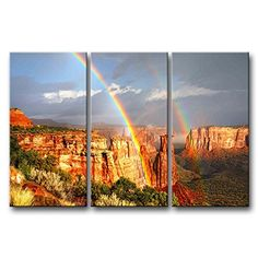 So Crazy Art® 3 Pieces Wall Art Painting Rainbows In The Colorado National Monument Trees Pictures Prints On Canvas Landscape The Picture Decor Oil For Home Modern Decoration Print For Girls Room So Crazy Art http://www.amazon.com/dp/B00M930QJ6/ref=cm_sw_r_pi_dp_q7LDvb0BG91RZ