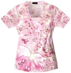(Limited Supply) Click Image Above: Cherokee Garden Enchanted Voyage Scrub Top. Scrub Shop, Cute Scrubs, Cherokee Woman, Womens Scrubs, Nursing Shoes, Girls World, Everything Pink, V Neck Tops, Enchanted