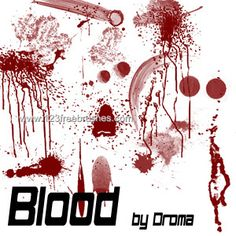 Blood 14 - Download  Photoshop brush http://www.123freebrushes.com/blood-14/ , Published in #BloodSplatter, #GrungeSplatter. More Free Grunge & Splatter Brushes, http://www.123freebrushes.com/free-brushes/grunge-splatter/ | #123freebrushes