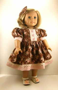 Pretty pink and brown dress
