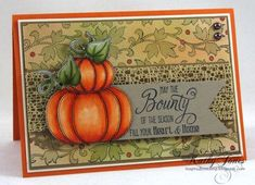 Fall Applique Clear Stamps and Stitched Vines Cling Background Stamp | JustRite Papercraft Inspiration Blog