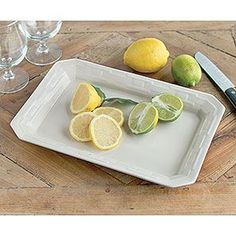 "This Woven Traditions entertaining piece is a must have to make your party perfect! The Tasting Tray is perfect to serve small appetizers or desserts. Perfect for an afternoon tea or as a beautiful centerpiece tray – add our small glass hurricane for a seasonal look. Prepare and bake right on the tray. Vitrified – safe for use in microwave, dishwasher, oven and freezer. 13""l x 8 3/4""w x 1 1/2""h"