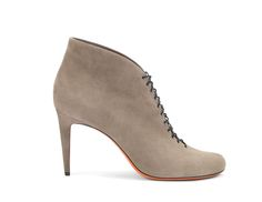 Santoni | Laced-up #ankleboot in taupe suede. #Santoni #Santonishoes #boot #FW1516