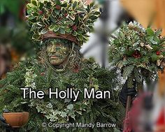 """""""Here We Come A'Wassailing"""" - with """"The Holly Man"""" - A blog Post by @julielcleveland of Blue Morning Expressions about Celebrating the Holidays"""