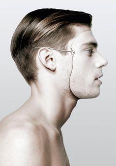 Imaginative surrealistic portrait
