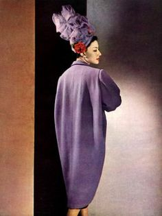 Balenciaga Coat and Caroline Reboux Hat, 1947