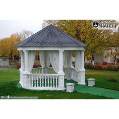 Foisor din Coloane Ornamentale si balustri in Stil Corintic Gazebo, Outdoor Structures, Design, Kiosk, Pavilion, Cabana