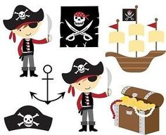 Pirate edible cupcake toppers from #Cake_Sugar_Designs 12 for $14.