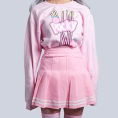Free ship-koko kawaii pocky unisex jumper - Me(mes) - Best Skirt Harajuku Mode, Harajuku Fashion, Kawaii Fashion, Lolita Fashion, Cute Fashion, Fashion Outfits, Rock Outfits, Emo Outfits, Fashion Fashion