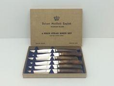 Stagmaster England Dinnerware Steak Knives Vintage Cutlery