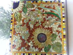Mosaic Glass Sunflower Plaque. £145.00, via Etsy.