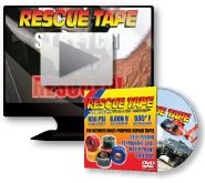 Rescue Tape - The Fastest Self-Fusing Silicone Tape on the Market Today! Rescue Tape is a self-fusing silicone tape for emergency and all-purpose repairs.